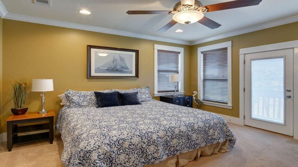Master bedroom with comfy king bed