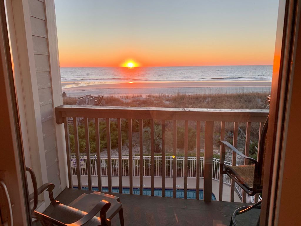 Beautiful sunrises right off the balcony!