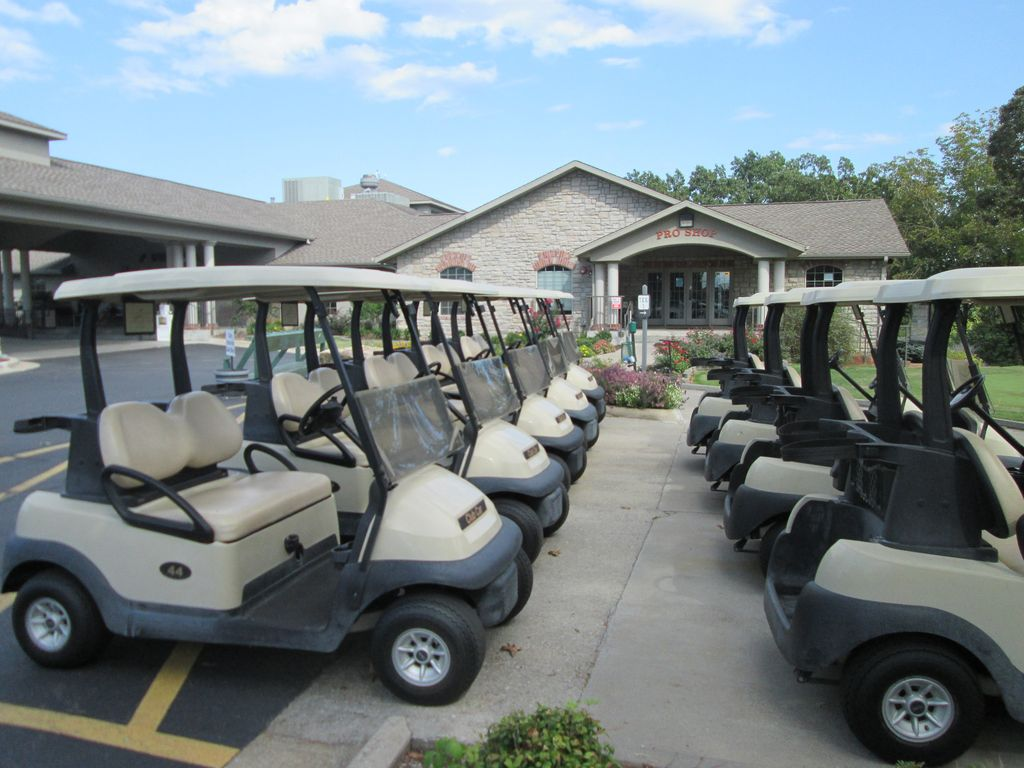 Plenty of golf carts to rent.