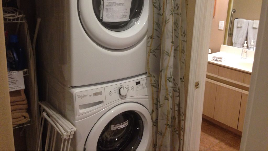 The washer, dryer and Wi Fi are in the condo.