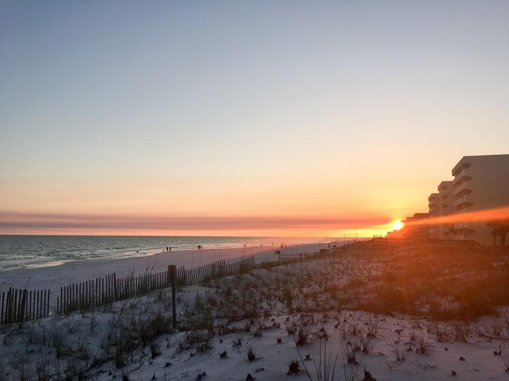 Spectacular sunsets on the sugar white sands, on Okaloosa Island