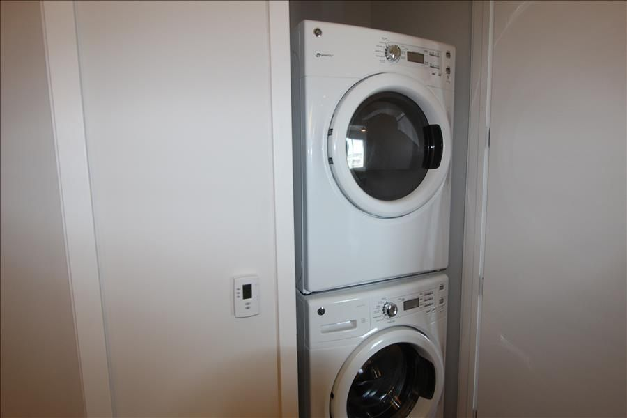 In suite washer and dryer.