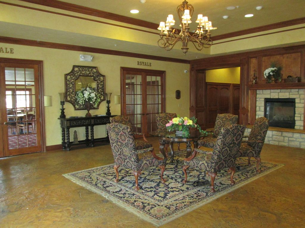 The clubhouse lobby at Pointe Royale Golf Village, Branson, Missouri.