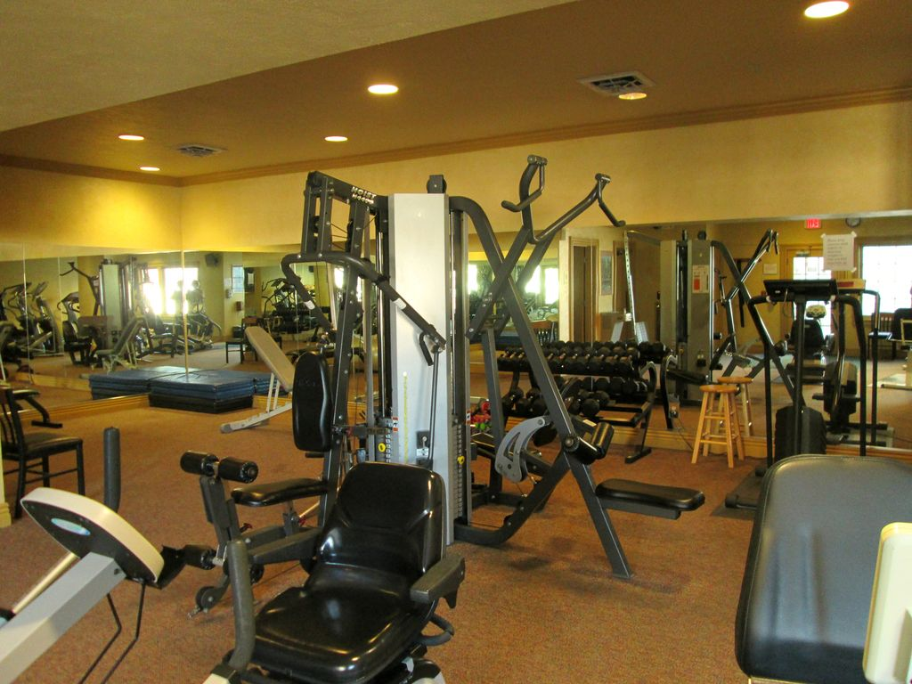 The exercise facility in the clubhouse is only 1 block away. FREE to guests.