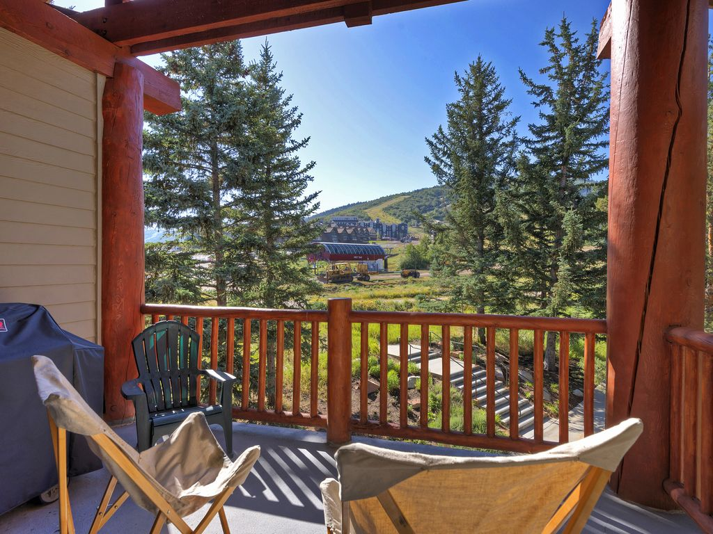 Deck overlooking Park City Resort - First Time Chairlift