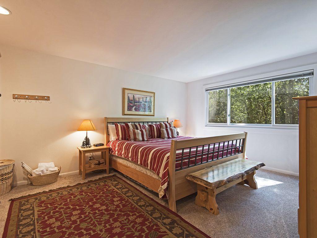 Master bedroom.  King size bed, ensuite bath