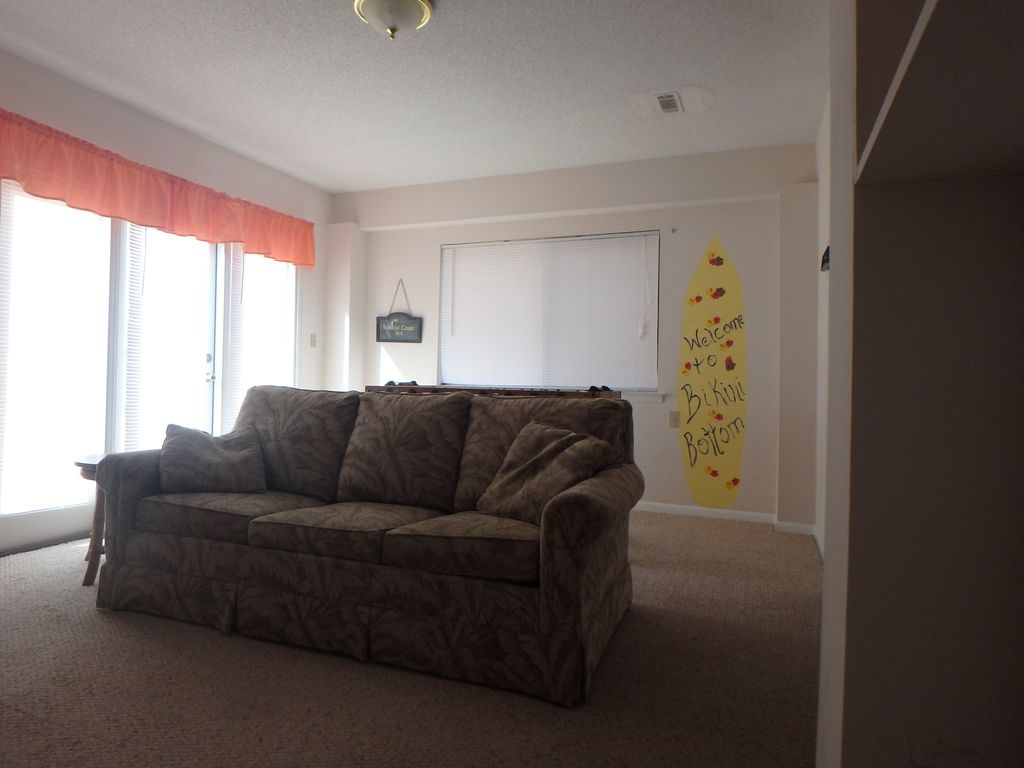 Additional family room on lower level. TV, microwave & mini-frdge