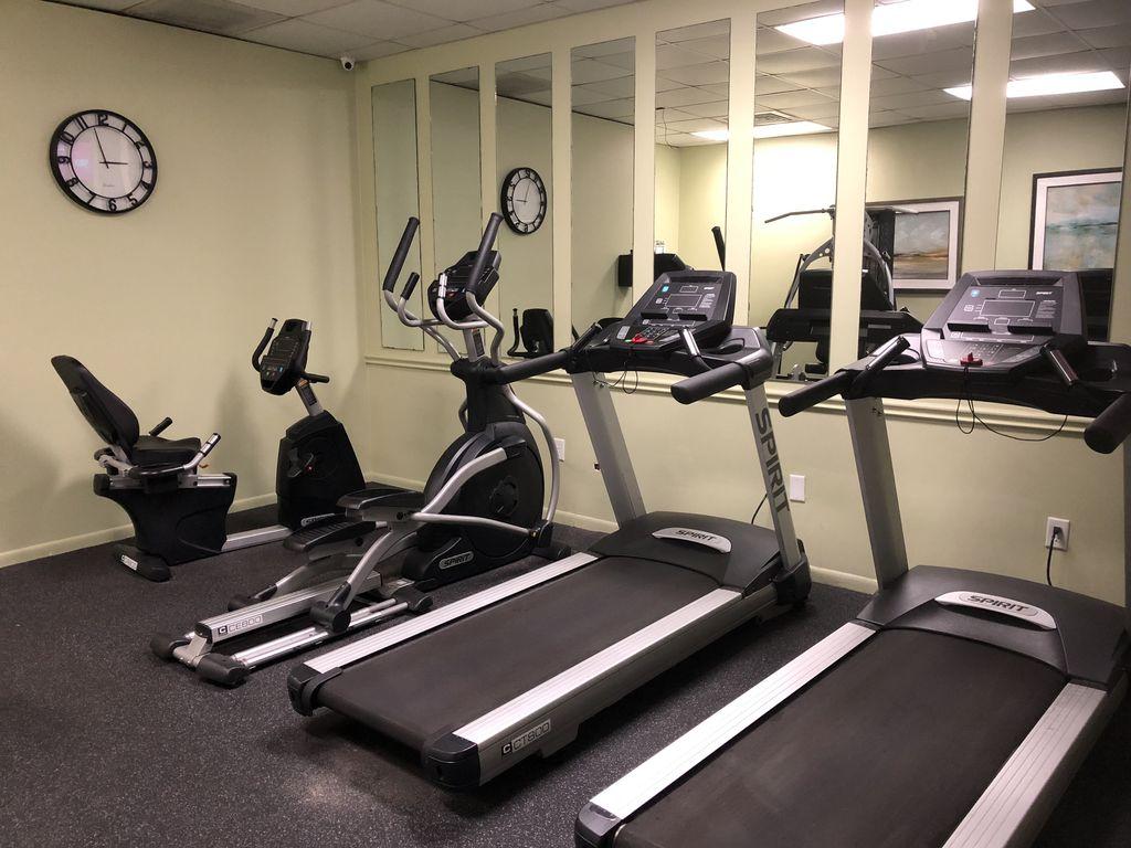 Fitness facility.