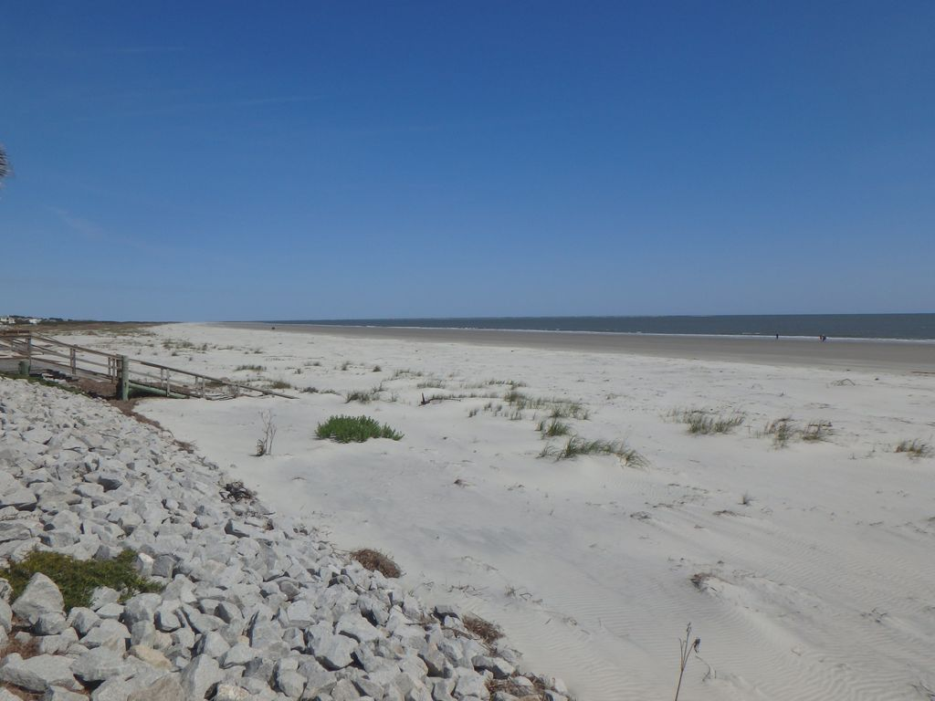 View of the beach from the private beach access (northern view)