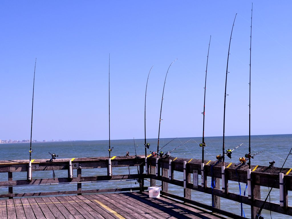 Enjoy a Unique Fishing Experience from Apache Pier, Short Drive Away, Good Luck!