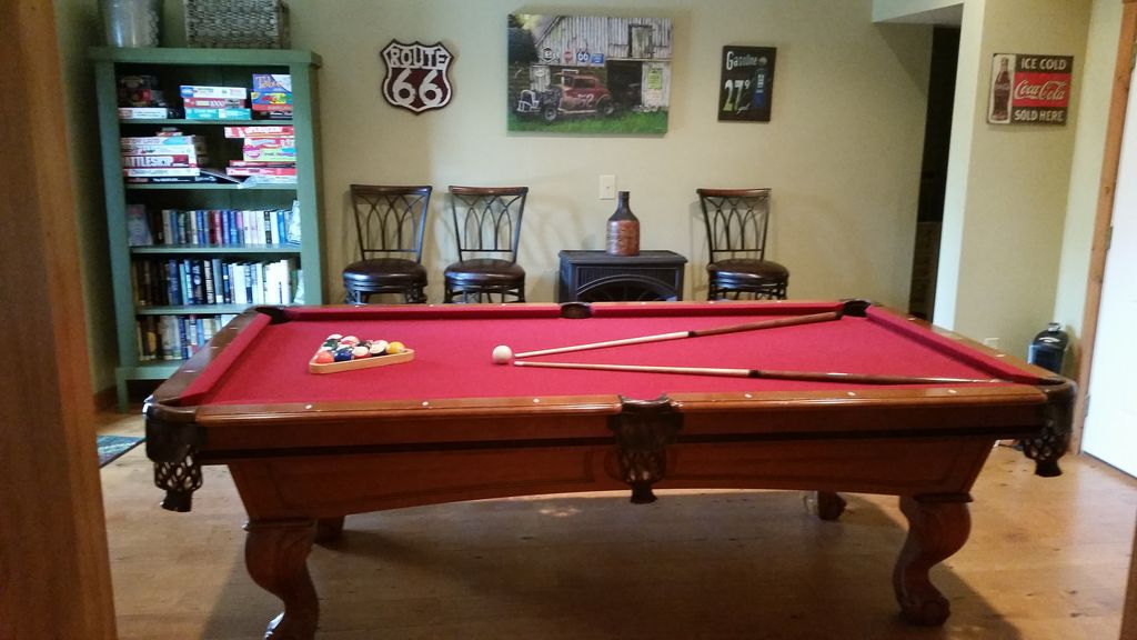 Pool  Table, Board Games, TV, and Books