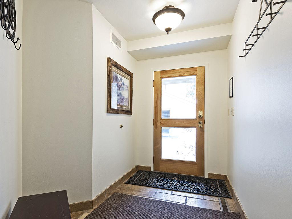 Entrance into home - plenty of storage for skis and snow gear