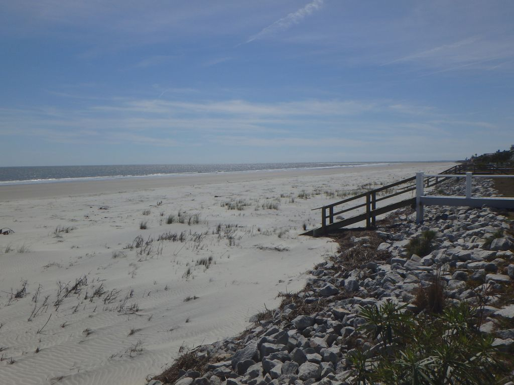 View of the beach from the deck of private beach access (southern view)