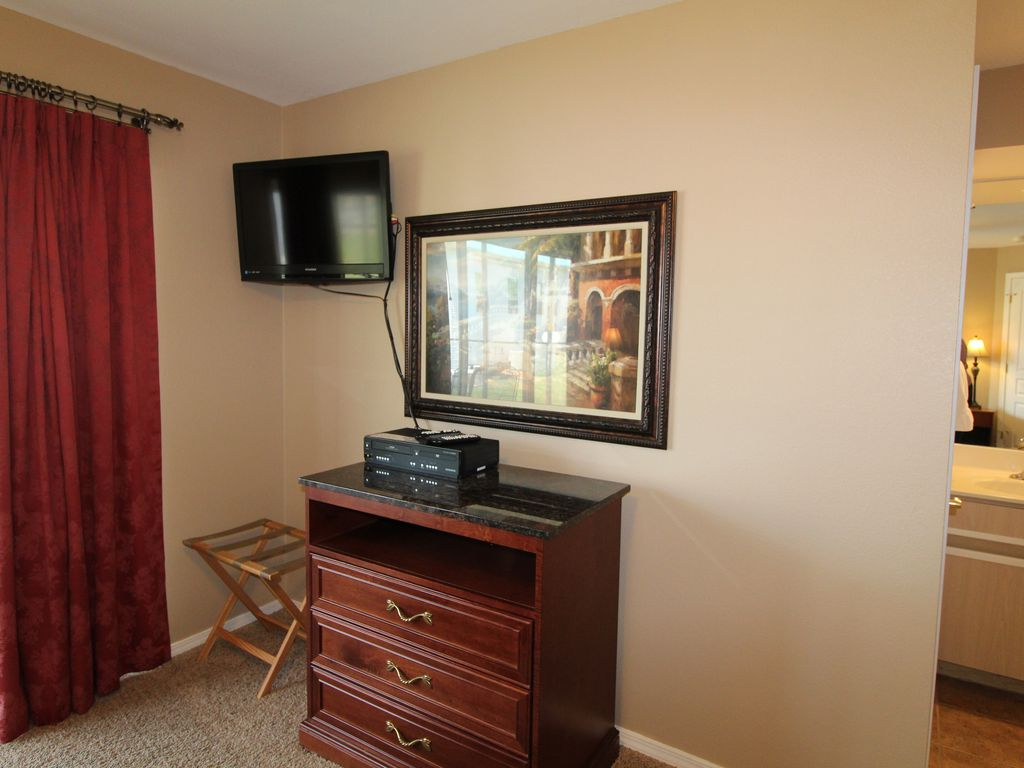 Cable TV in master bedroom.