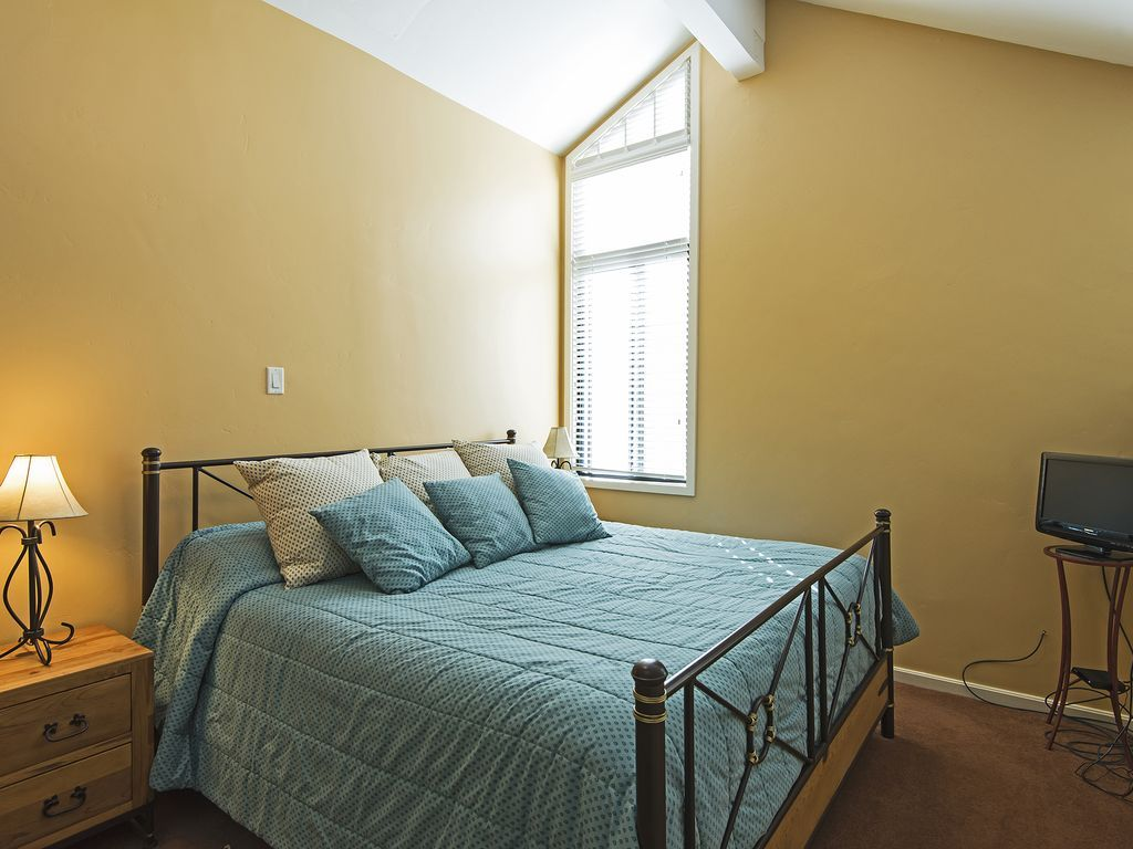 upstairs, loft bedroom with queen size bed