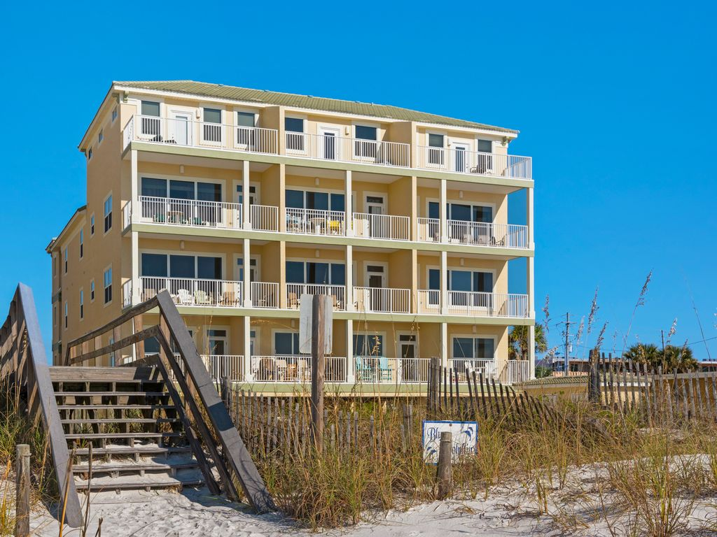 Panoramic view of Gulf Coast from balcony. Heated pool, and easy beach access