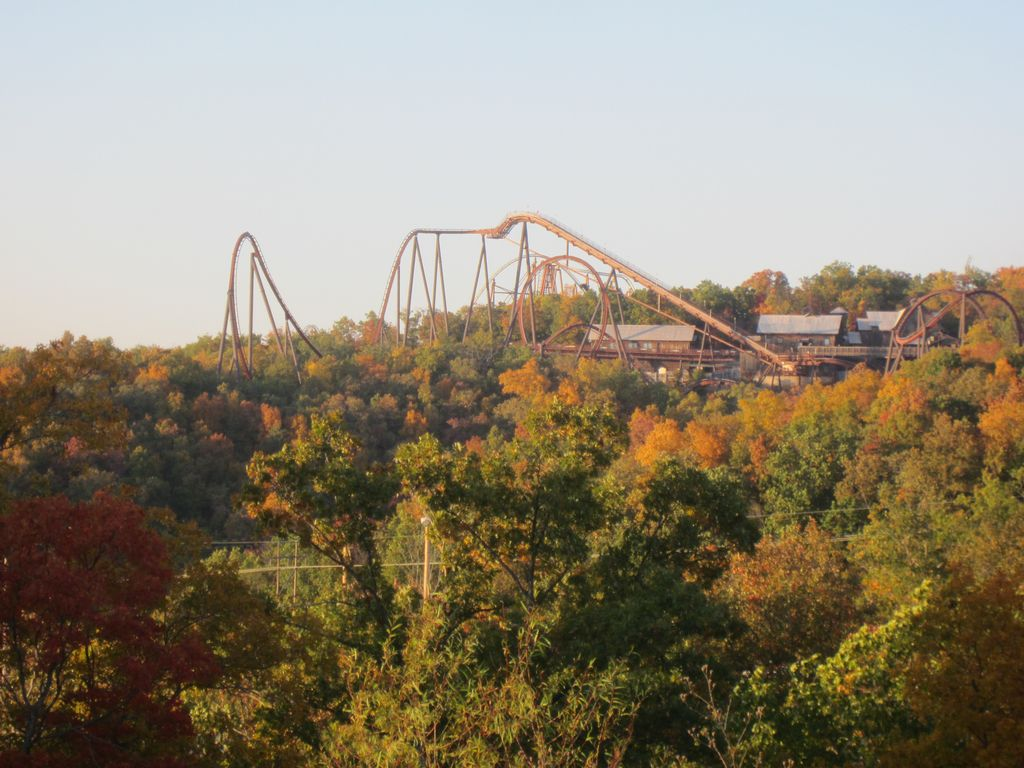 Ozarks in the fall. SDC coaster.