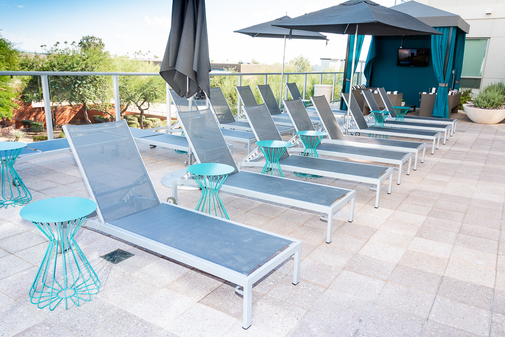 Plenty of lounge chairs at the pool.