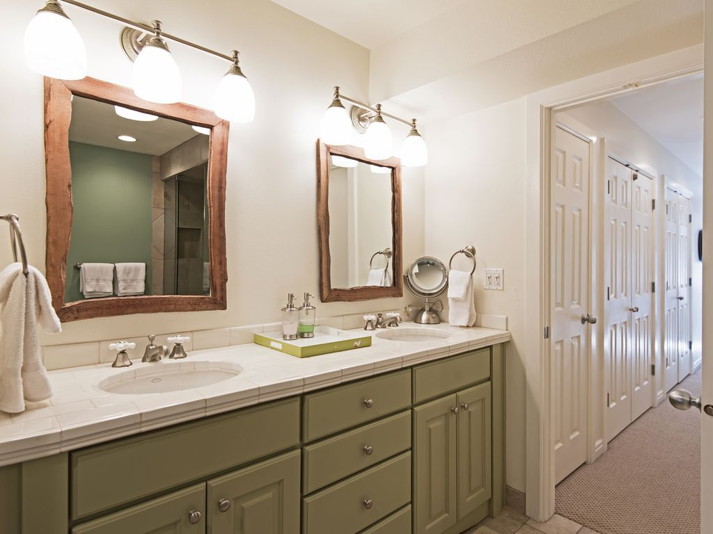 master bath with his/hers sinks