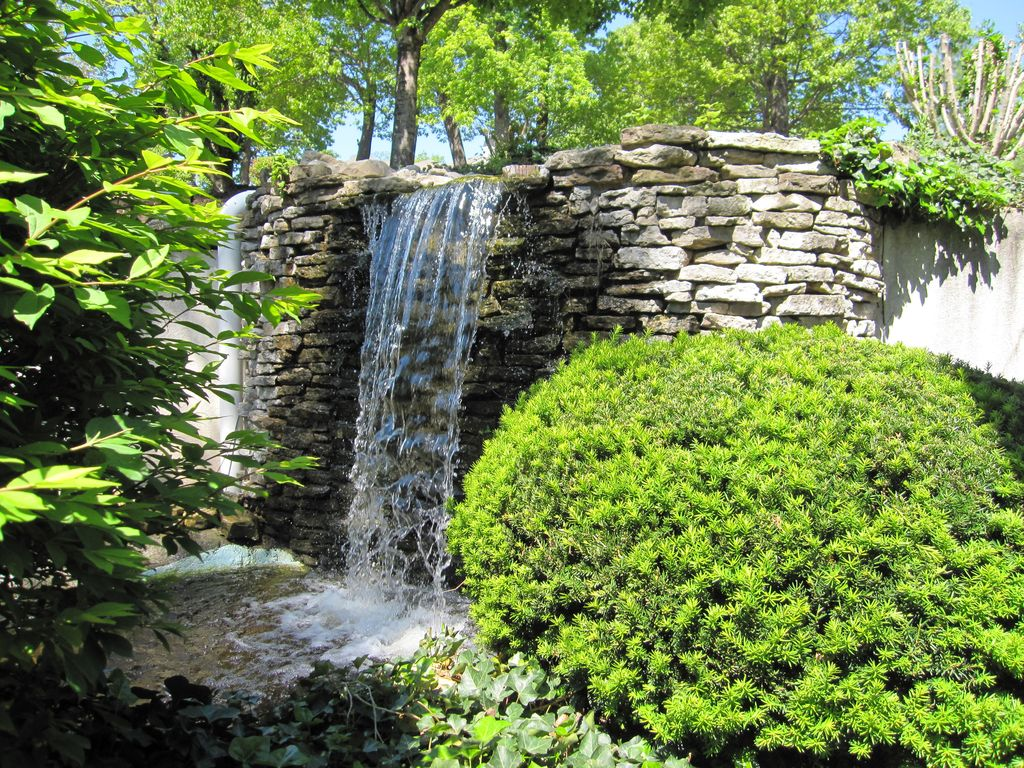 The waterfall is next to your building. You can hear it on your porch. Seasonal.