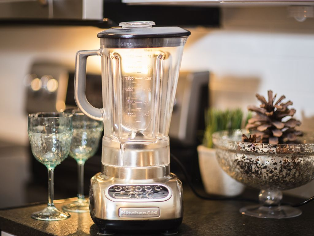 Prepare a Strawberry Margarita in our Kitchen Aid blender
