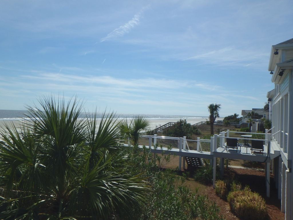 View of beach from deck of home (southern view)