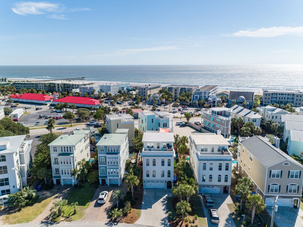 """Aerial facing east.  Adjacent to town.  Easy access to """"downtown IOP"""""""