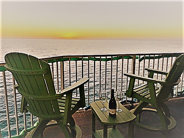 A meal, a beverage, or just a sunset. No better place to see it.