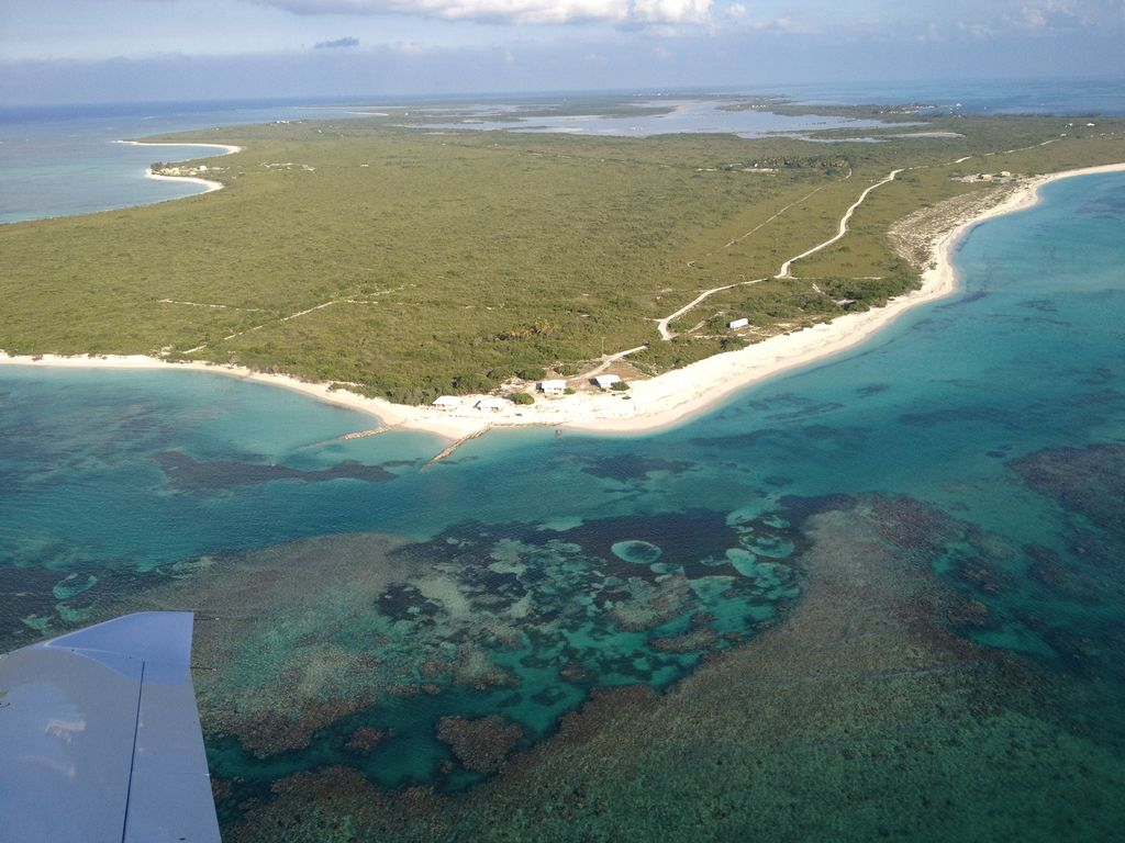 Flight above BVI's only corral island Anegada (1/2 flight from St. Thomas)