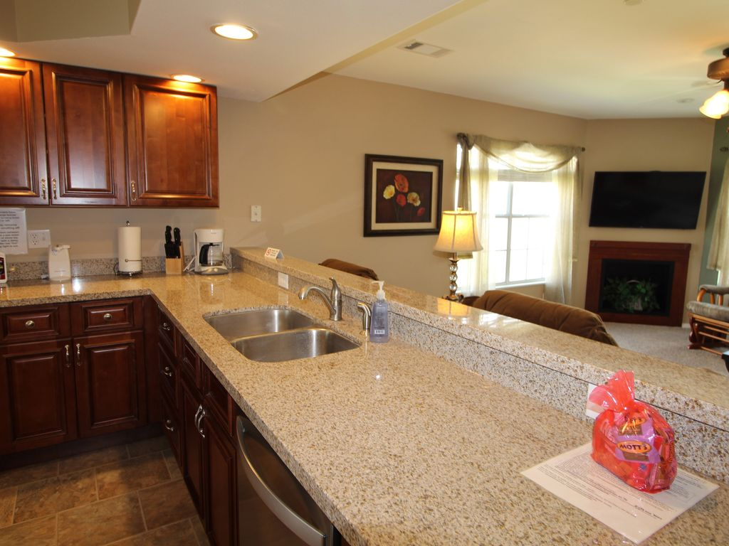 Granite counters. Open floor plan so the cook can visit too.