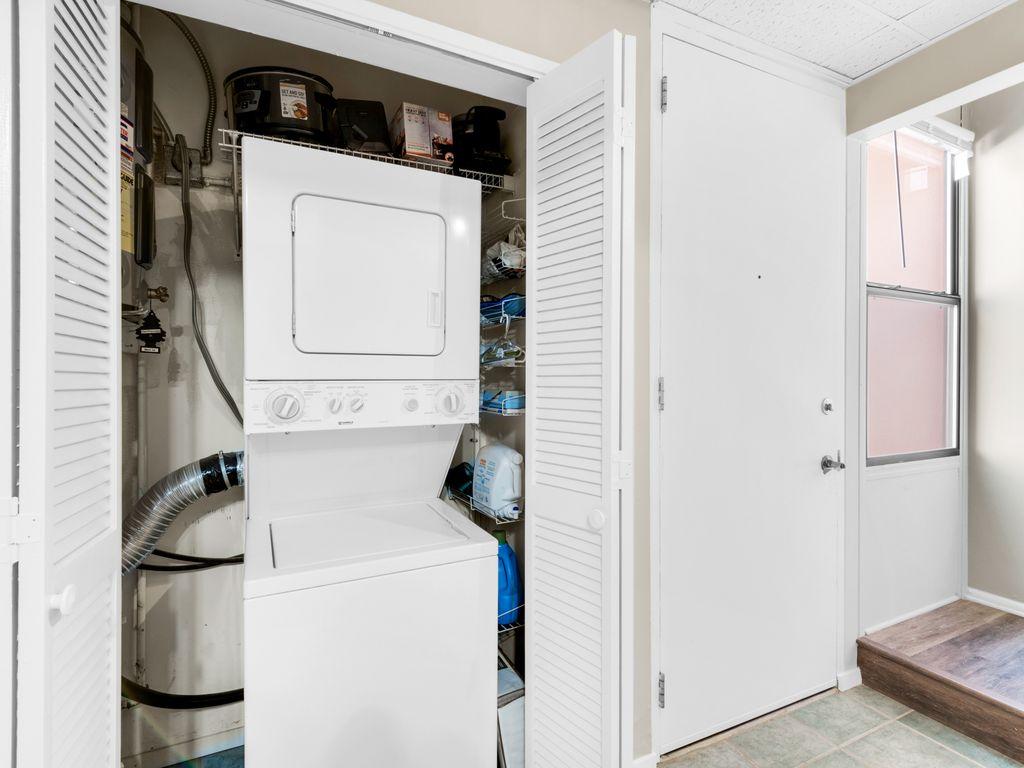 Combination washing machine/dryer in condo