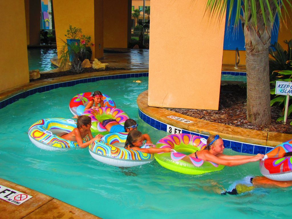 The lazy river includes the floats!