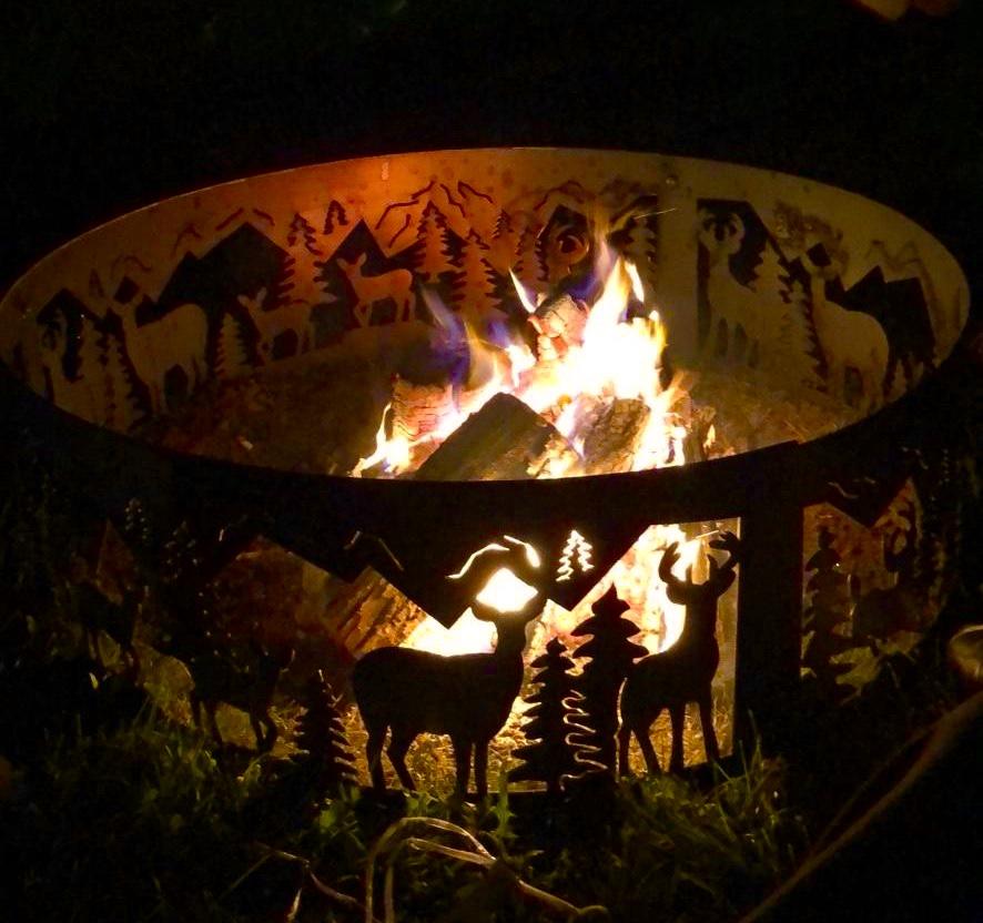 Deer fire-pit