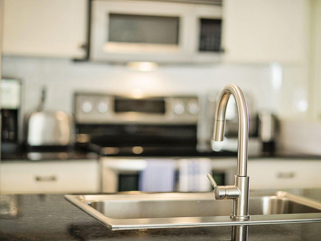Blick in die moderne Küche