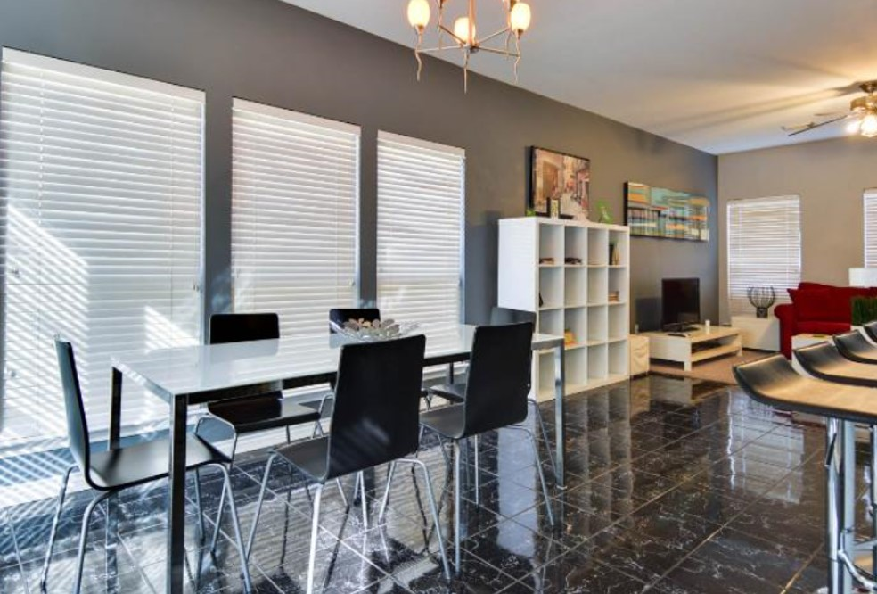 Dining room.  Open floor plan.