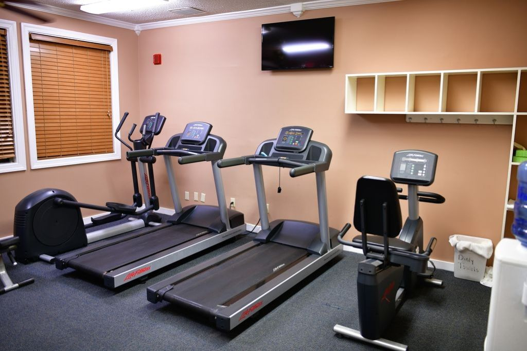 Exercise Room With Treadmill, Stepper & Bicycle. Open 24 hrs a day.