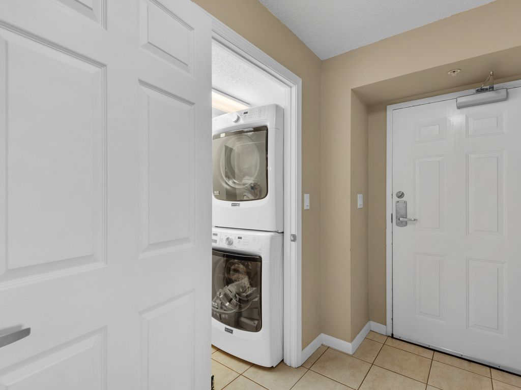 Full-sized washer/dryer in unit