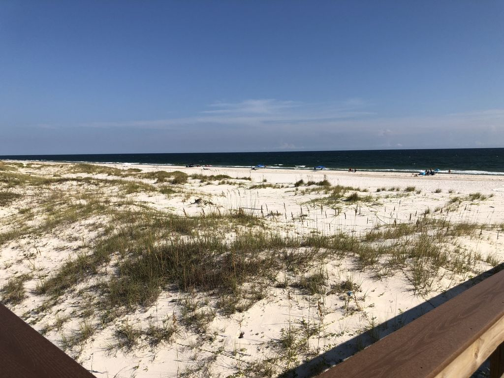 View of the beach from the boardwalk!!