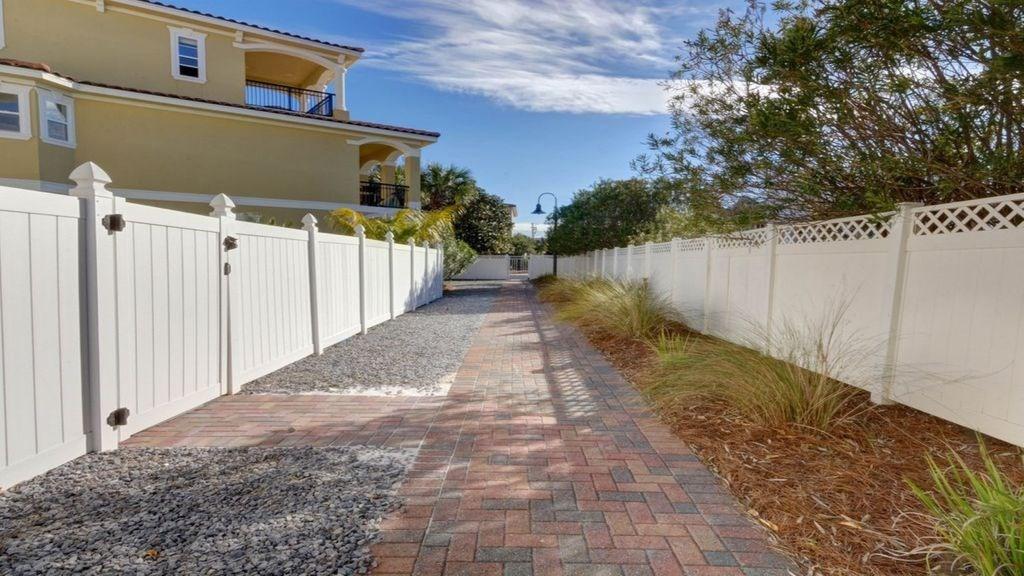 neighborhood walkway to beach