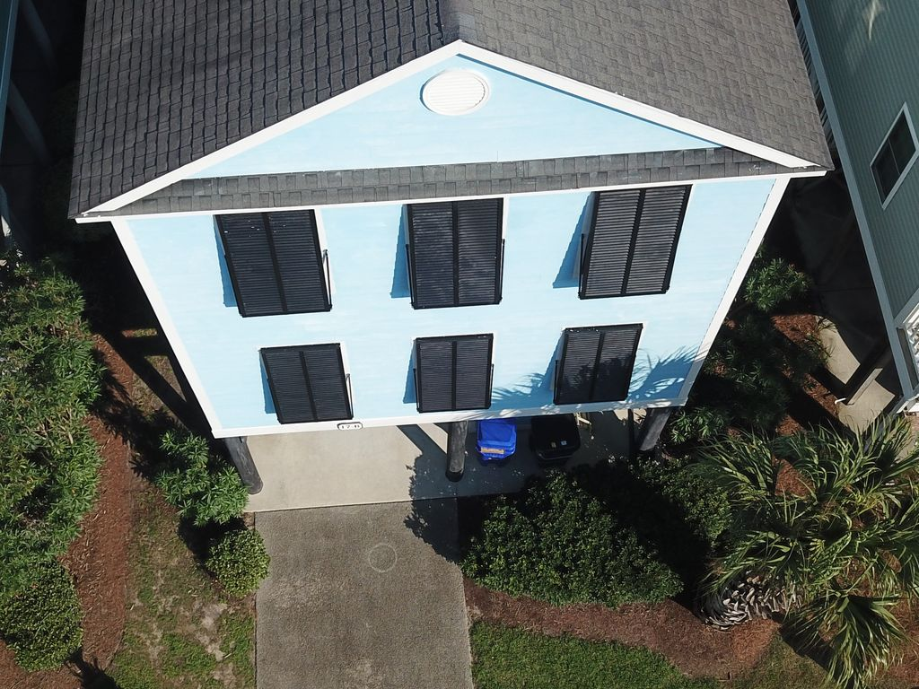 Ariel view of house