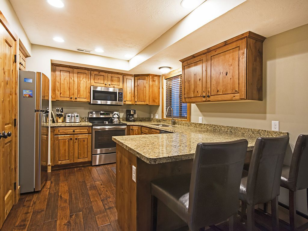Fully equipped kitchen.  Stainless steel appliances.
