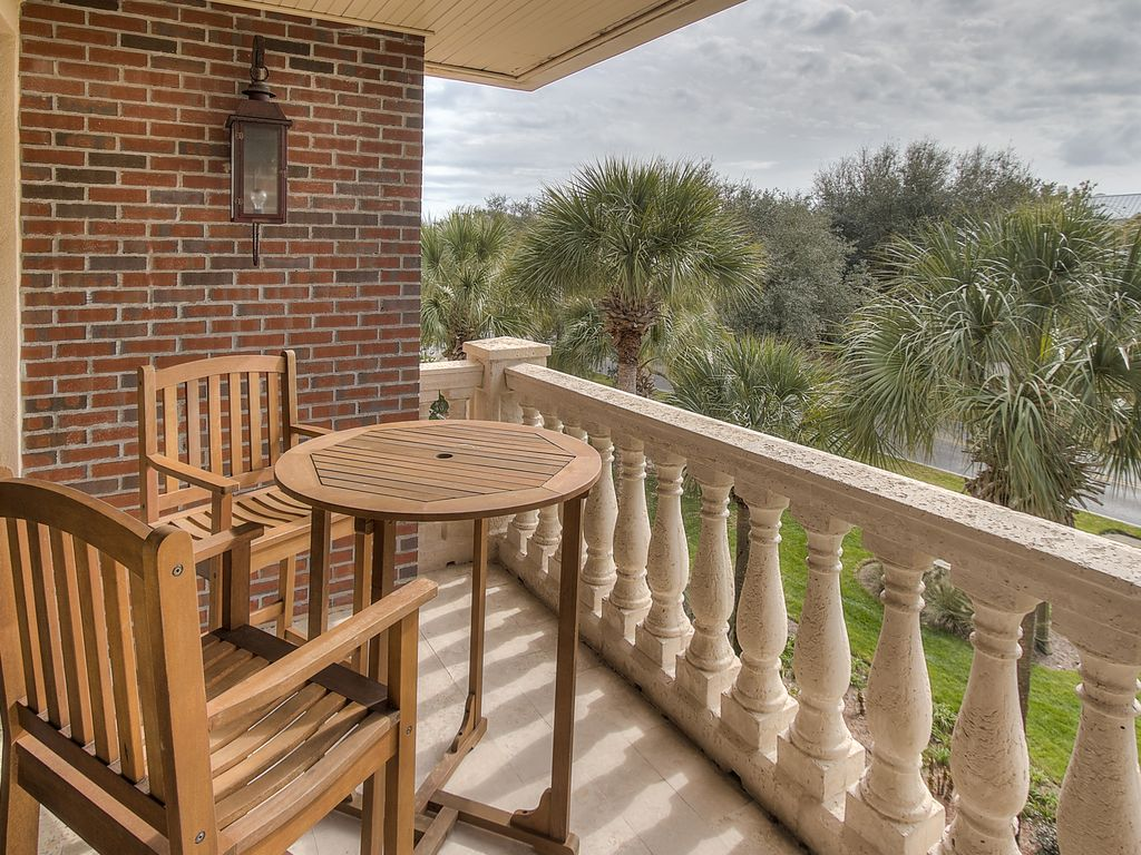 Balcony overlooking 30A