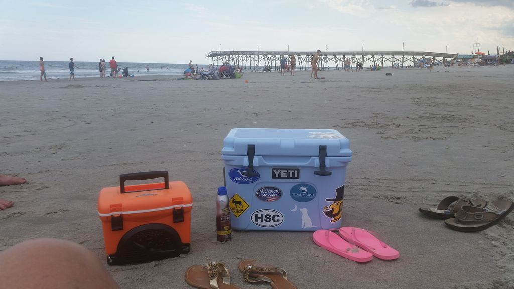 Coolers and flip flops :)
