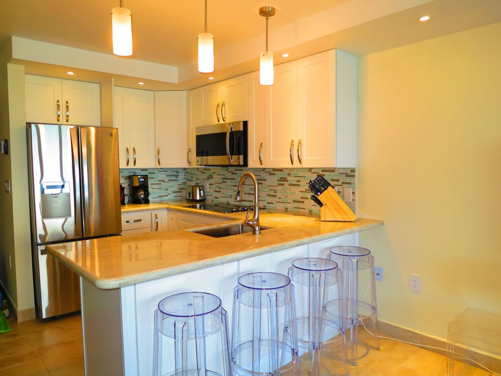 Modern full stainless steel kitchen
