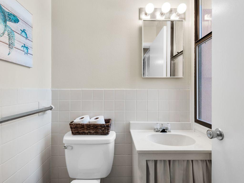 Powder bathroom on first level