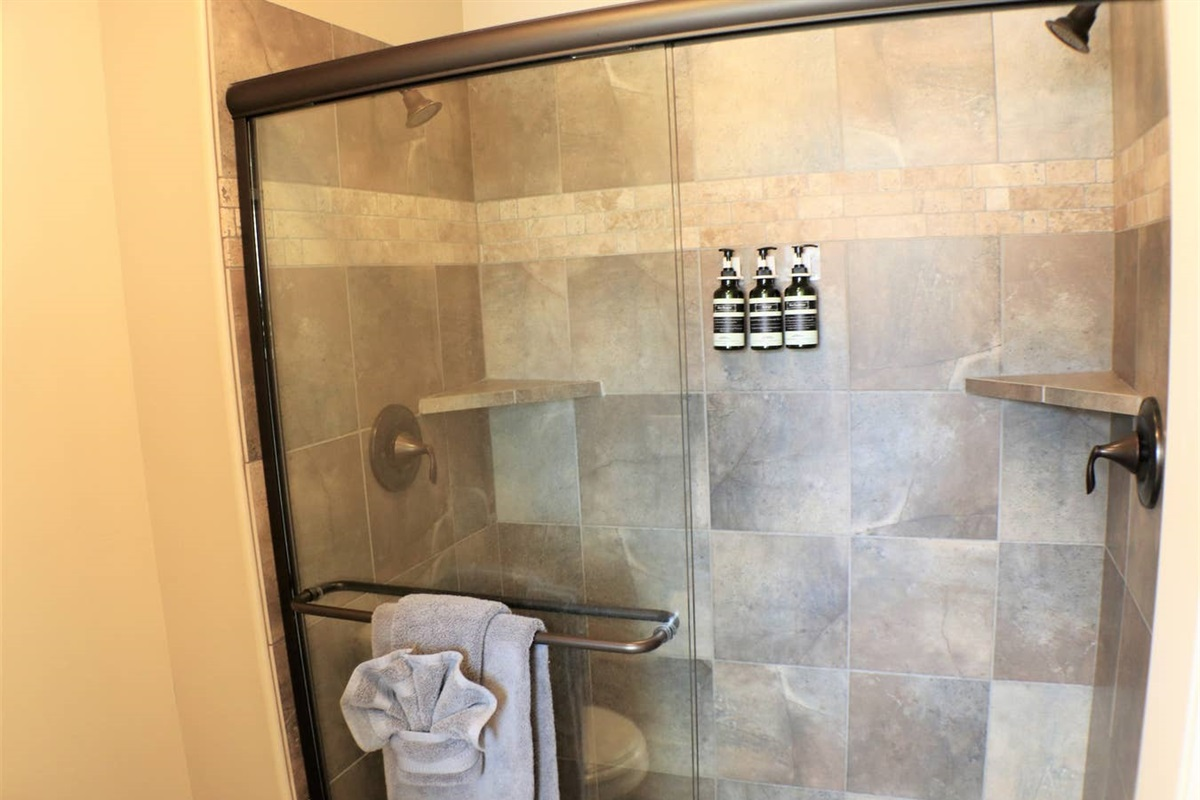 Master Suite Bathroom with Dual Shower Heads