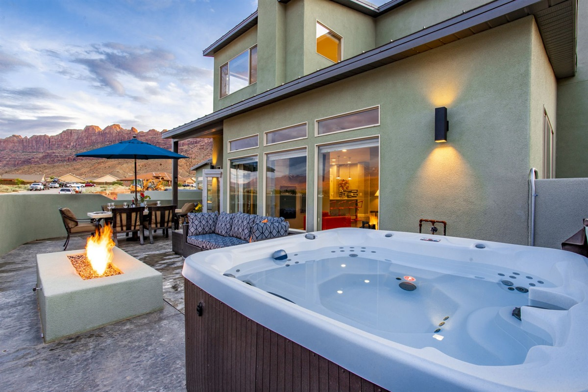 2nd Patio with Private Hot Tub