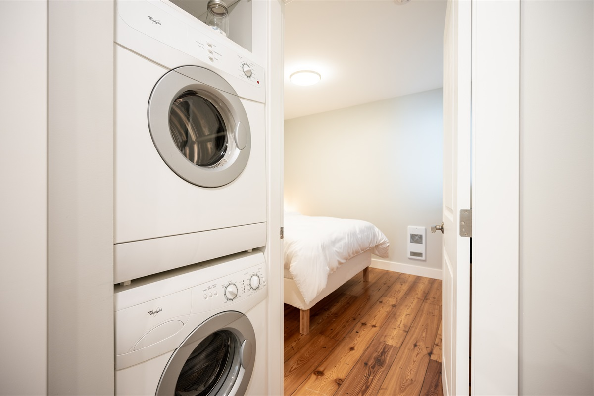 Washer and dryer in the suite is a must-have on longer vacations or after an epic powder day.