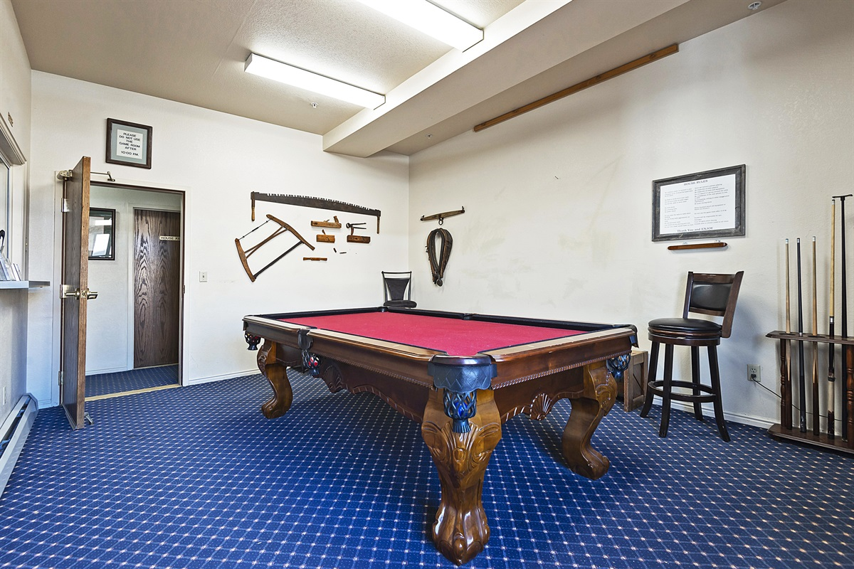 pool table - common area