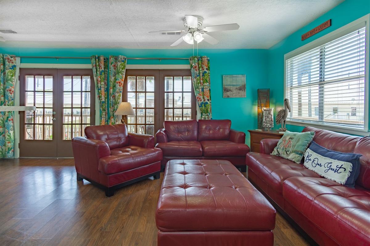 Queen Sofa Bed in Living Area